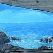 Rock Painting-ocean Sailboats Art Print