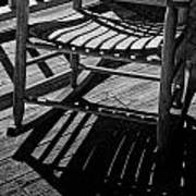 Rocking Chair Lit By The Afternoon Sun Art Print