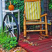 Rocking In Autumn Art Print