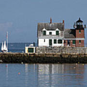 Rockland Breakwater Lighthouse Art Print
