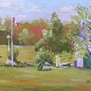 Rockport Ontario Pond Fountain Art Print