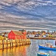 Rockport Water Color - Greeting Card Art Print