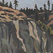 rocks along the Sanpoil river Art Print
