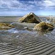 Rocks And Sand Art Print