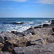Rocks And The Ocean Art Print