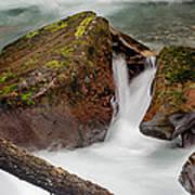 Rocks Of Avalanche Gorge Art Print