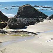 Rocks On The Oregon Coast Art Print