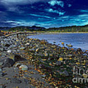 Rocky Beach In Western Canada Art Print