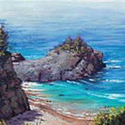 Rocky Coast Big Sur  Art Print