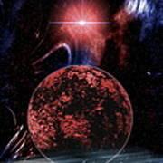 Rocky Extrasolar Planet Art Print