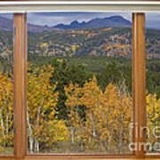 Rocky Mountain Autumn Picture Window Scenic View Art Print
