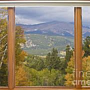 Rocky Mountain Picture Window Scenic View Art Print