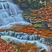 Rocky Pool Falls Art Print