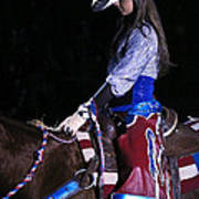 Rodeo Cowgirl Art Print