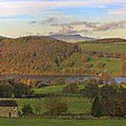 Roe House Overlooks Ullswater Near Pooley Bridge In The Lake District Art Print