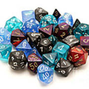 Role-playing Dices Art Print