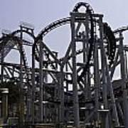 Roller Coaster Rides Inside The Universal Studio Park In Sentosa Art Print