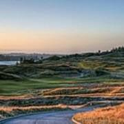Rolling Green And Gold - Chambers Bay Golf Course Art Print