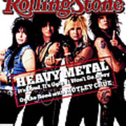 Rolling Stone Cover - Volume #506 - 8/13/1987 - Motley Crue Art Print