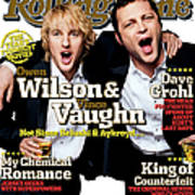 Rolling Stone Cover - Volume #979 - 7/28/2005 - Owen Wilson And Vince Vaughn Art Print