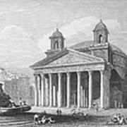 Roman Pantheon, 1833 Art Print