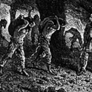 Roman Slavery: Coal Mine Art Print by Granger