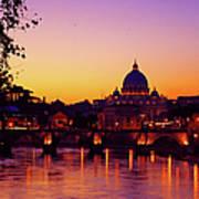 Roman Sunset Art Print by Karl Borg