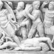 Roman  War Sculpture   Art Print