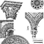 Romanesque Ornament Art Print