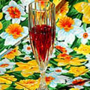 Romantic Ruby Art Print