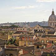 Rome Cityscape Art Print by Marco Poggioli