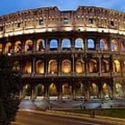 Rome Colosseum Dusk Art Print