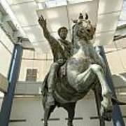 Rome Italy. Capitoline Museums Emperor Marco Aurelio Art Print