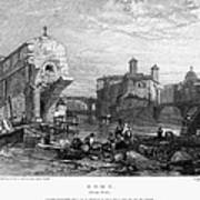 Rome: Ponte Rotto, 1833 Art Print by Granger