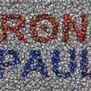 Ron Paul Button Mosaic Art Print