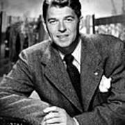 Ronald Reagan, From Shes Working Her Art Print by Everett