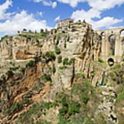 Ronda Rocks In Andalusia Art Print