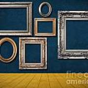 Room With Frames Art Print by Atiketta Sangasaeng