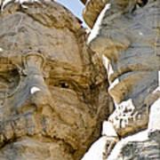 Roosevelt On Mt Rushmore National Monument Art Print