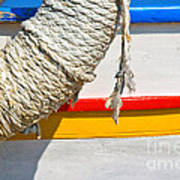 Rope And Boat Detail Art Print