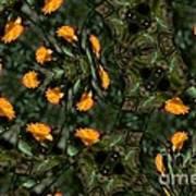 Rose Kaleidoscopic Mirror  Art Print