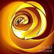 Rose Series - Gold Art Print