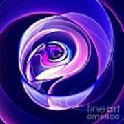 Rose Series - Violet-colored Art Print