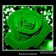 Rose With Green Coloring Added Art Print