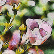 Roses At The Shrine Art Print