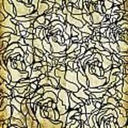 Roses Pattern Art Print by Setsiri Silapasuwanchai