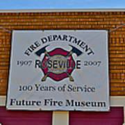 Roseville Fire Department Museum Art Print