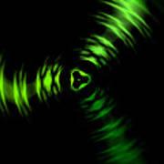 Rotation Green Art Print by Steve K