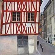 Rouen Street Corner Art Print