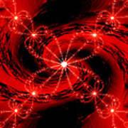 Rouge Et Noir Avec Blanc Art Print